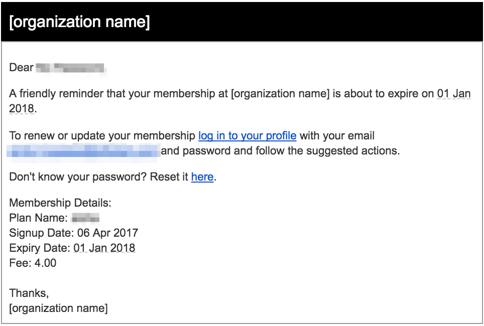 How do I create and customize membership expiry notifications
