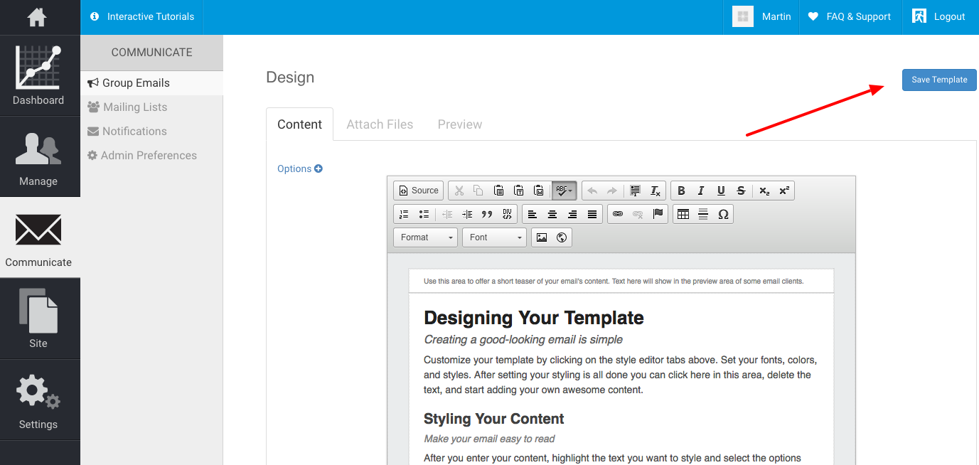 How do i create an email template silkstart for Designing an email template