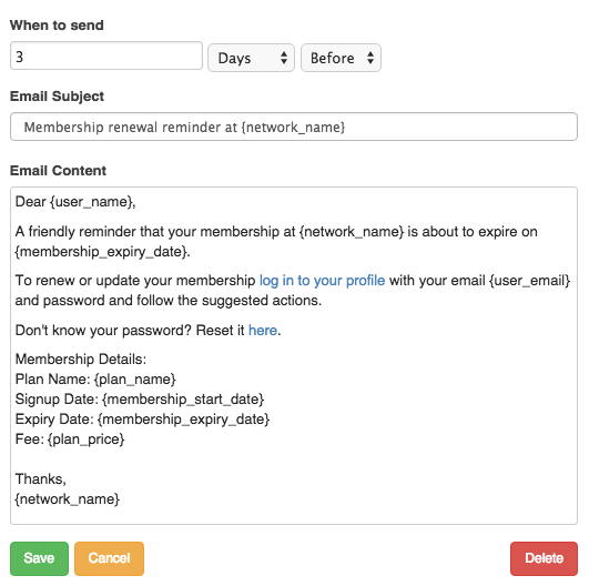 How do i customize the membership renewal notice silkstart edit the email subject and customize the email contents field with your membership renewal notice the renewal notification can be configured with custom altavistaventures Image collections